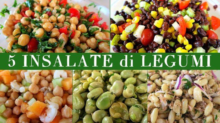 Insalate di legumi: 5 idee per insalate estive fresche e colorate. Tanti modi creativi per cucinare i legumi: ceci, fave e fagiolini in un mix gustoso di ver...