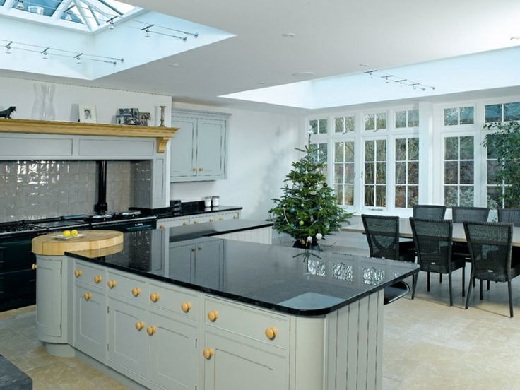 A stunning kitchen dining area created with an orangery for Georgian kitchen ideas