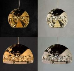 lamparas modernas espejadas modelo