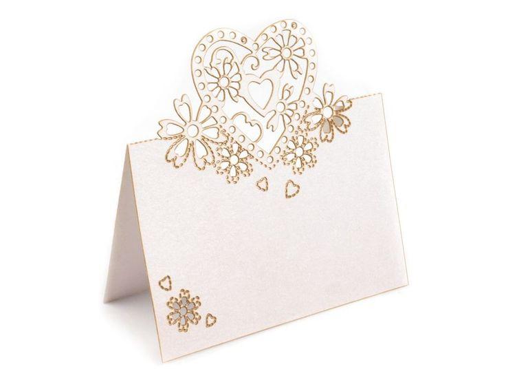 Svatební jmenovka 86x87 mm srdce