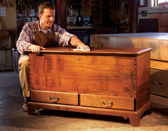 Hope chest blueprints for free woodworking projects plans for Blanket chest designs
