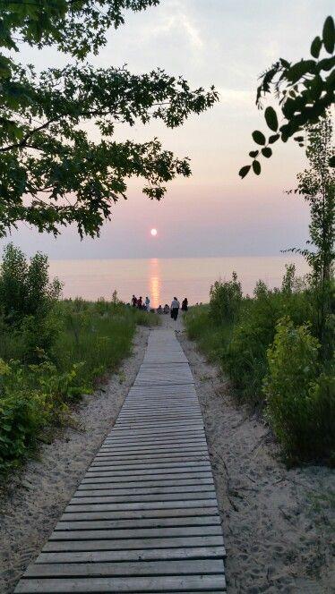 Grand Bend Ontario Lake Huron sunset