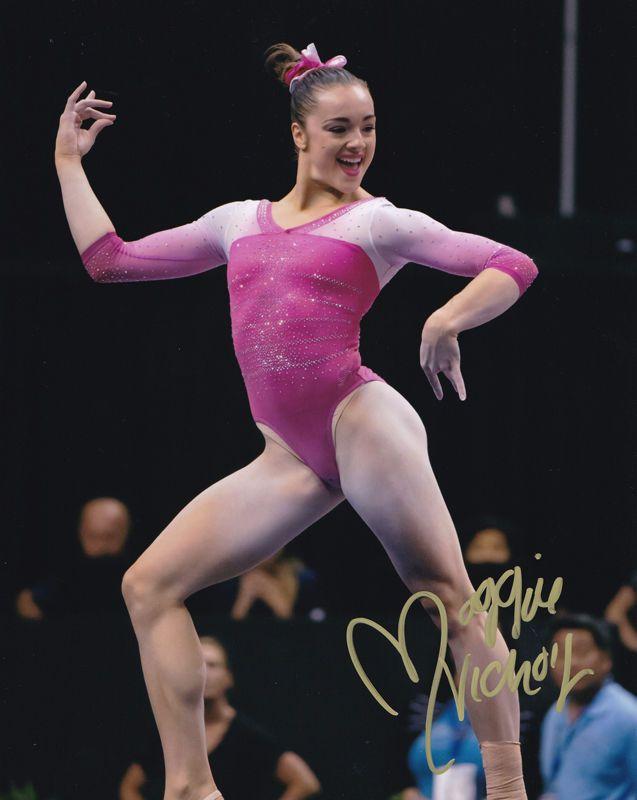 MAGGIE NICHOLS OU 2016 RIO OLYMPICS GYMNAST SIGNED AUTOGRAPH 8X10 PHOTO COA #3