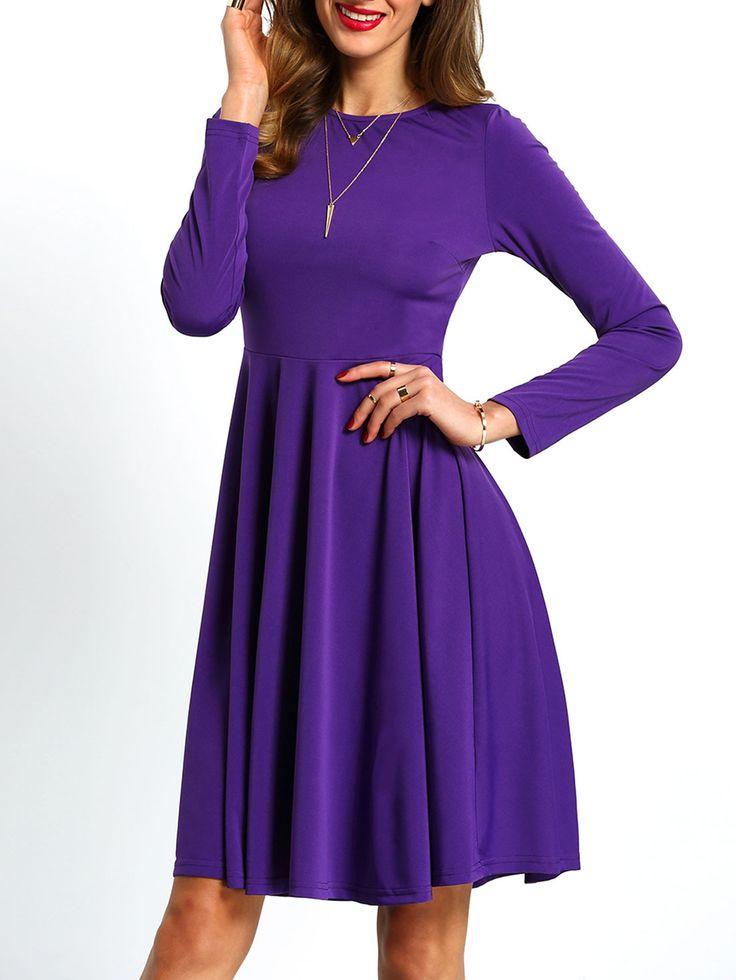 the 25 best purple long sleeve dress ideas on pinterest