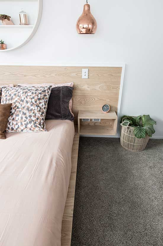 Feltex carpets | The Block NZ | Alex and Corban | Master Bedroom | Get the look with Maryland Polyester carpet in Pearl  #feltex #feltexcarpets #theblock #theblocknz #tv3 #bedroom #masterbedroom #greycarpet #polyester #carpet