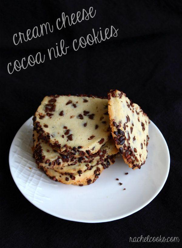 Cream Cheese Cocoa Nib Cookies from @Rachel *Rachel Cooks*