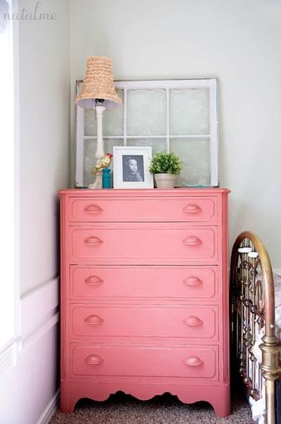 Chalk Paint® by Annie Sloan in Scandinavian Pink painted by stockist Grace McLeod for her shop Painted Out in Saint George, Ontario, Canada.