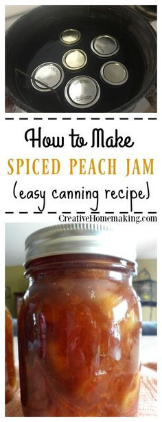 How to make homemade spiced peach jam from fresh picked peaches. No pectin required.