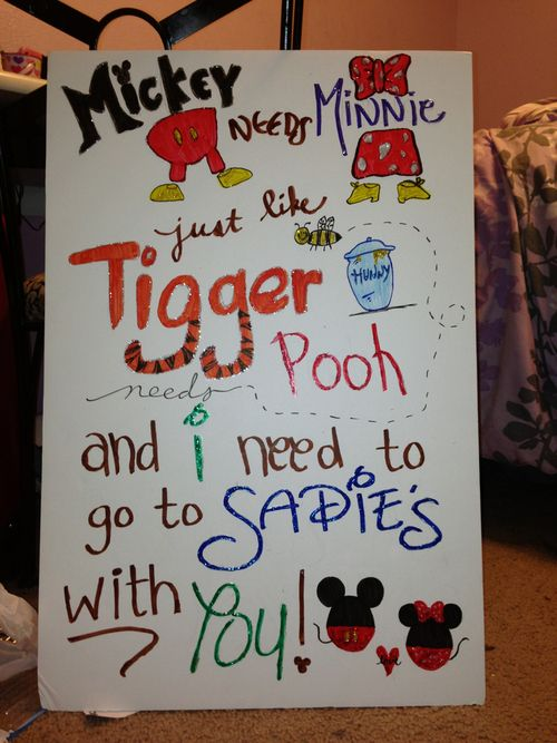 creative ways to ask a guy to sadies | sadies on Tumblr