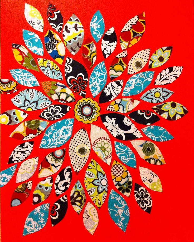 25+ best Fabric on canvas ideas on Pinterest | Buttons on ...
