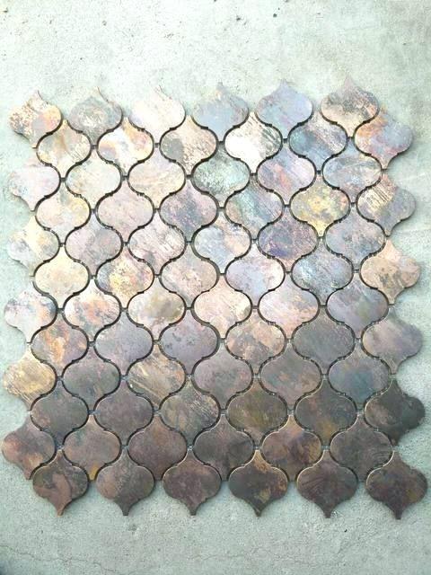 Lantern Shaped Tiles Uk Arabesque Antique Copper Mosaic Tile Imgbosq Co Copper Mosaic Kitchen Wall Decor Copper Tiles