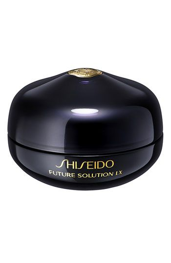 An anti-aging must for every skincare regimen. Help maintain skin contour around the eyes and mouth reducing the appearance of fine lines with Shiseido Future Solution LX Eye & Lip Contour Regenerating Cream.  Use morning and night on your eyelids, under your eyes and around your lips.