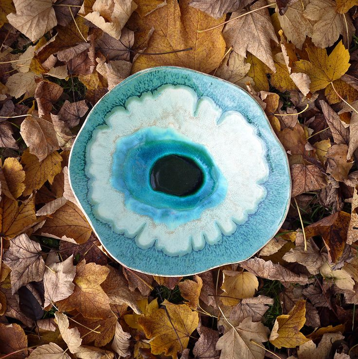 Ocean 11 decorative ceramic plate inspired by nature. 100% handmade work.