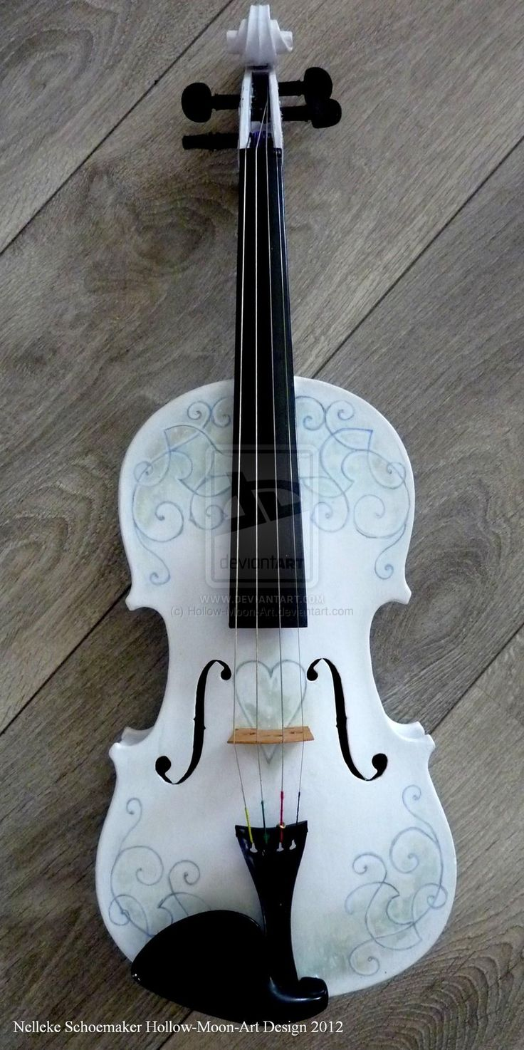 Handpainted violin design 1 by Hollow-Moon-Art on DeviantArt