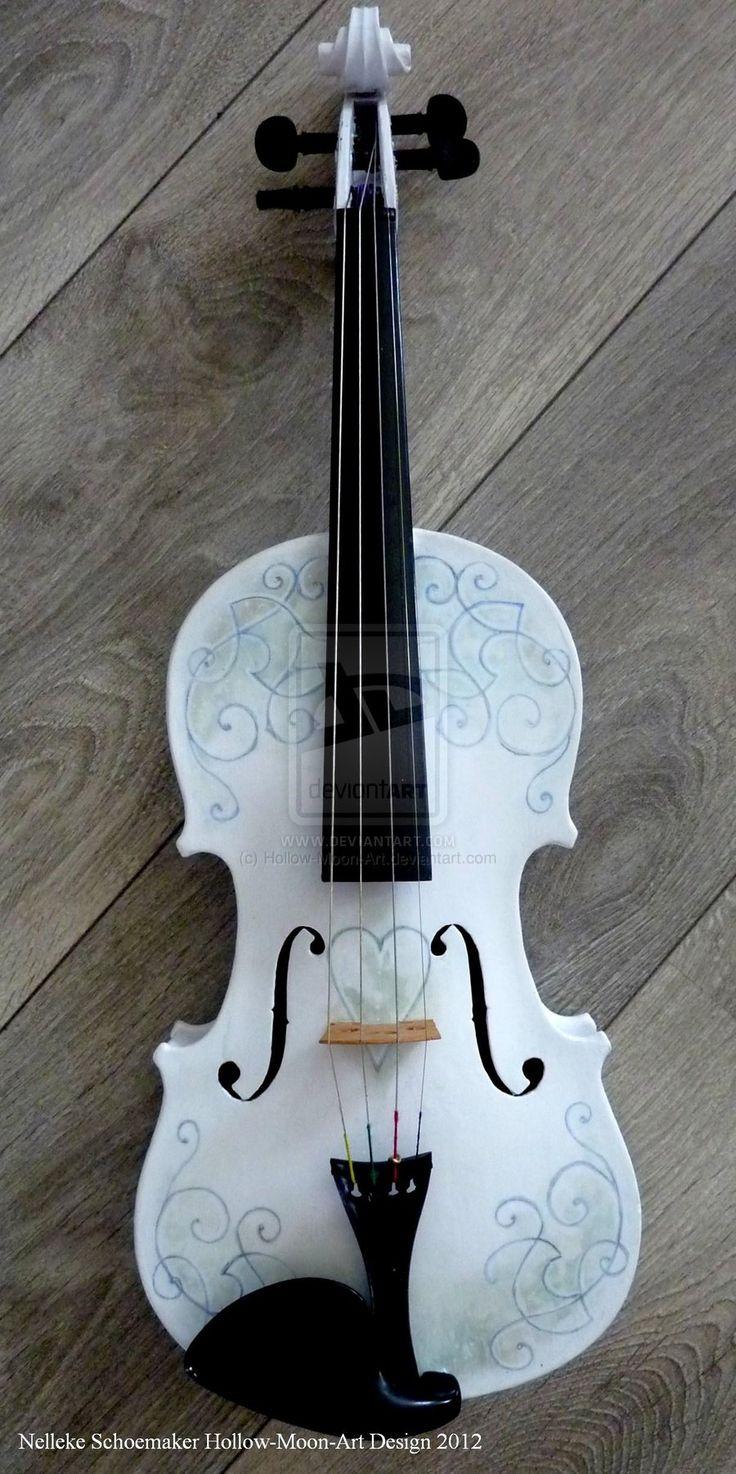 Handpainted violin design 1 by Hollow-Moon-Art on DeviantArt