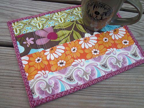reversible mug rug tutorial