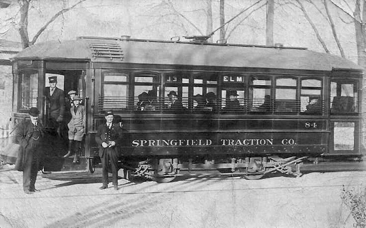 Springfield Traction Company Trolley 1925 Springfield