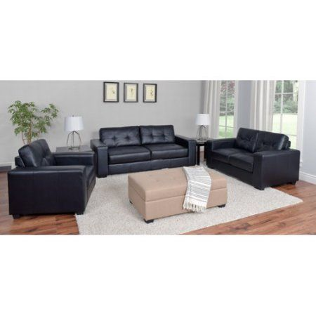 25+ Best Ideas About Leather Sofa Set On Pinterest | Black Leather