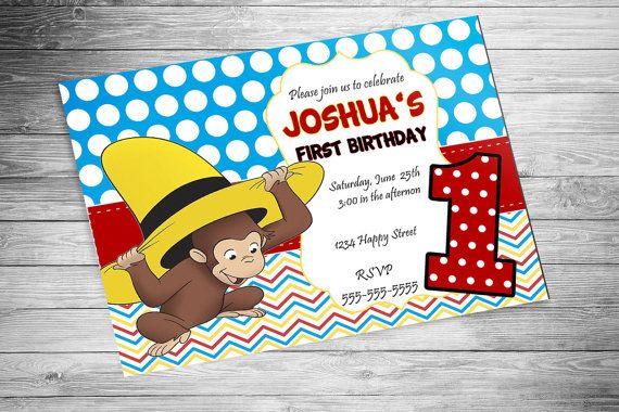 DIGITAL - Curious George Birthday Invitation