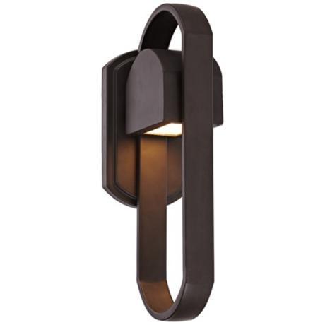 """Loop 15"""" High Bronze Outdoor Wall Light $129"""