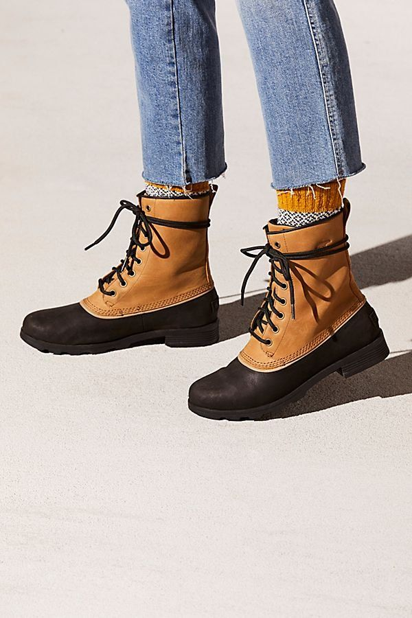 e39c86b5917 Emelie 1964 Weather Boot - Tan Sorel Winter Boots with Black Sole