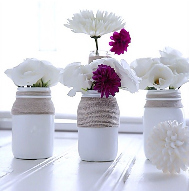 white painted pots #diy