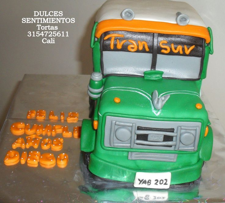 Cake Bus Cali Colombia