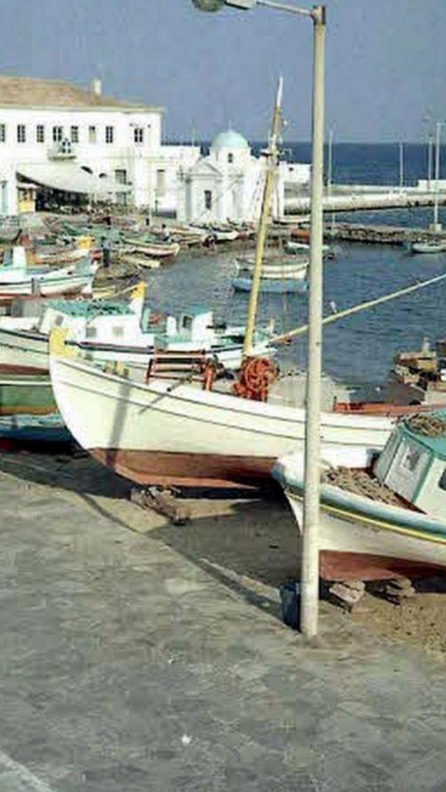 #Mykonos - Old Port,1968!