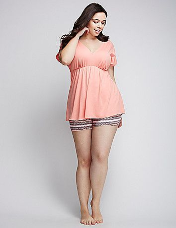 Plus size womens Pajama set