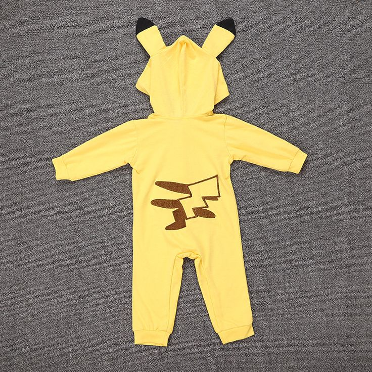Pokemon Pikachu Cosplay Costume Mystic Instinct Valor Ash Hooded Toddler Infant Boy Girl Outfit Jumpsuits Unisex. Click visit to buy
