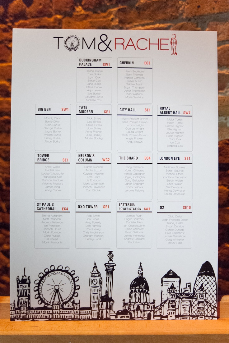 London Table Plan