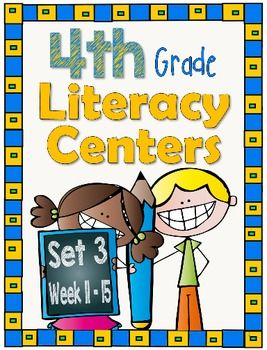 At last, Literacy Centers designed specifically for intermediate students that will help on their reading journey..     These centers coordinate with the 4th grade Journeys series published by Houghton Mifflin Harcourt*.  The centers can stand on their own and you do not have to be using this reading text book in order to use the centers in your classroom.