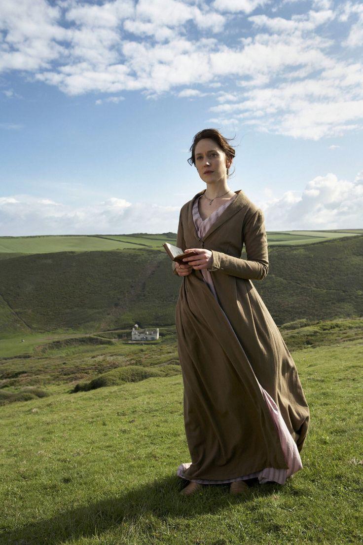 Hattie Morahan, as Elinor Dashwood, reads in BBC's Sense and Sensibility (2008)…