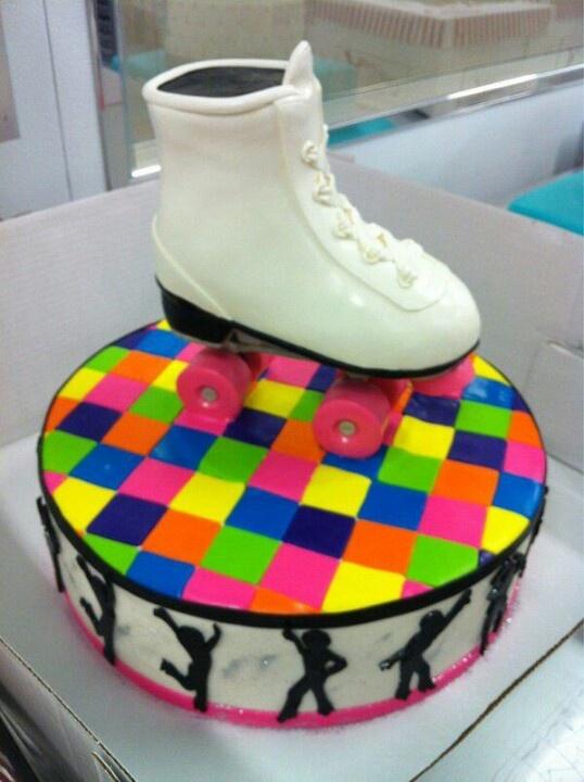 Roller Skate Birthday Cake Decorations