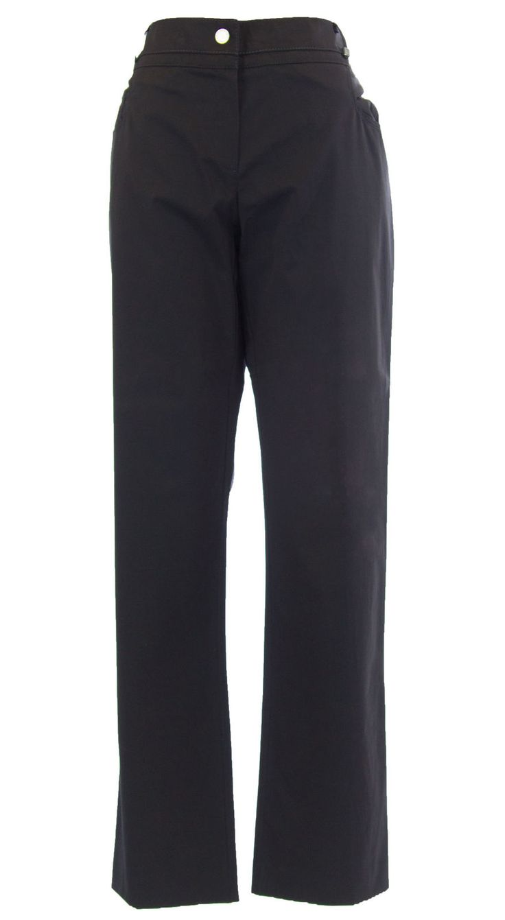 Marina Rinaldi By Maxmara Bisbee Charcoal Straight Leg Pants $335 Nwt