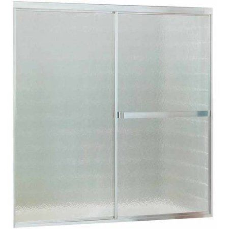 Sterling 690B-59S Standard 54 inch-59 inchW x 56.437 inchH Sliding Bathtub Door, Available in Various Colors, Silver