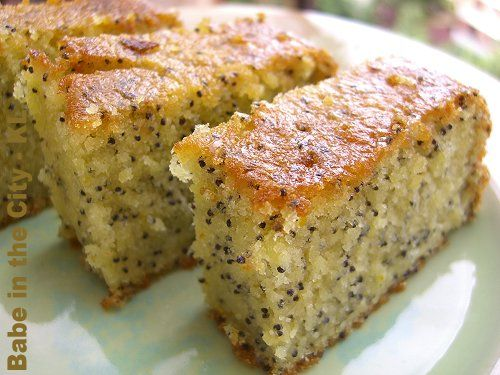 orange poppyseed cake (from donna hay's recipe)