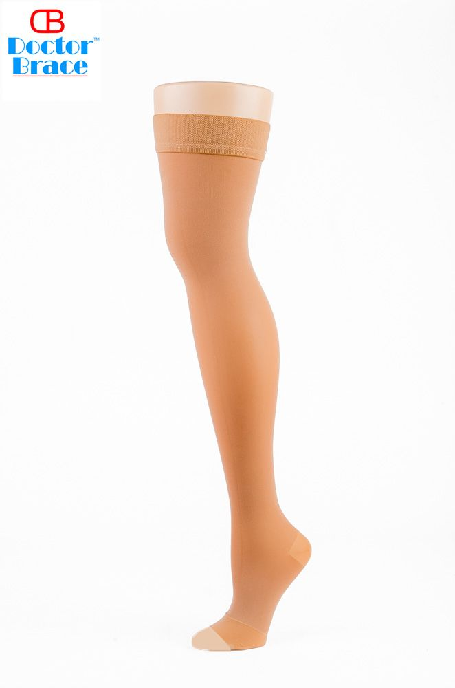 81d4e29ca96 Open toe support thigh high for women 20-30 mmhg -  DoctorBrace compression  stockings - Shop Now !