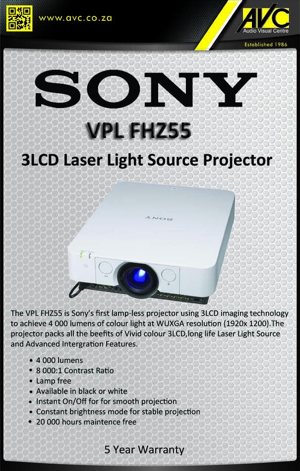 New Sony VPL FHZ55