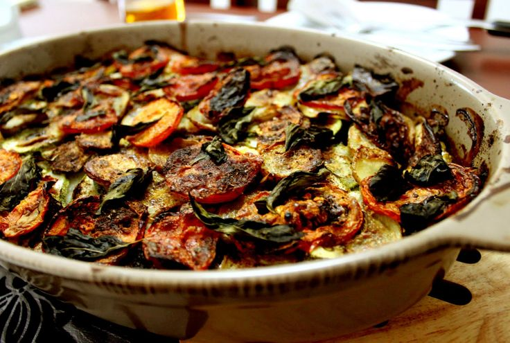 ratatouille - I make this like my Dad used to, from home-grown courgettes. We'd be eating it non-stop for weeks during bumper summers. Still love it.