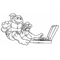 tmnt 2003 michelangelo coloring pages - photo#31