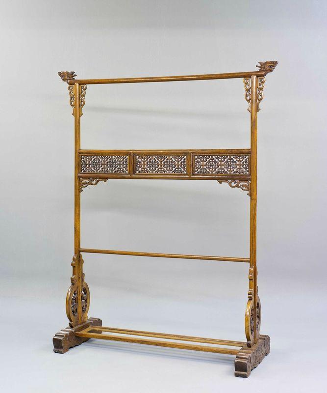 A Huanghuali Wood Cloth Rack, Ming Dynasty, 17th Century