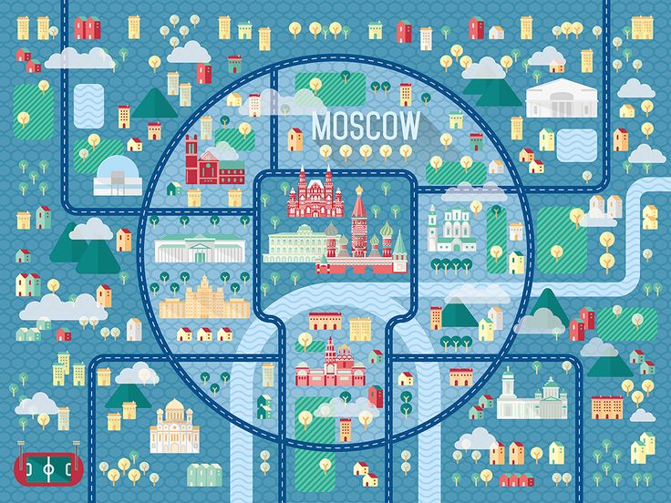 Illustrated Map of Moscow