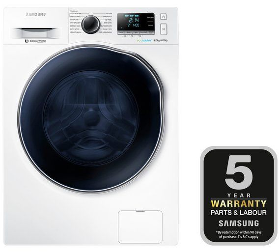 Buy Samsung WD90J6410AWEU Washer Dryer - White at Argos.co.uk, visit Argos.co.uk to shop online for Washer dryers, Large kitchen appliances, Home and garden