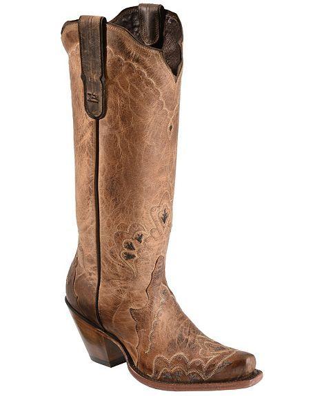Tony Lama Black Label Tall Cowgirl Boots - Snip Toe