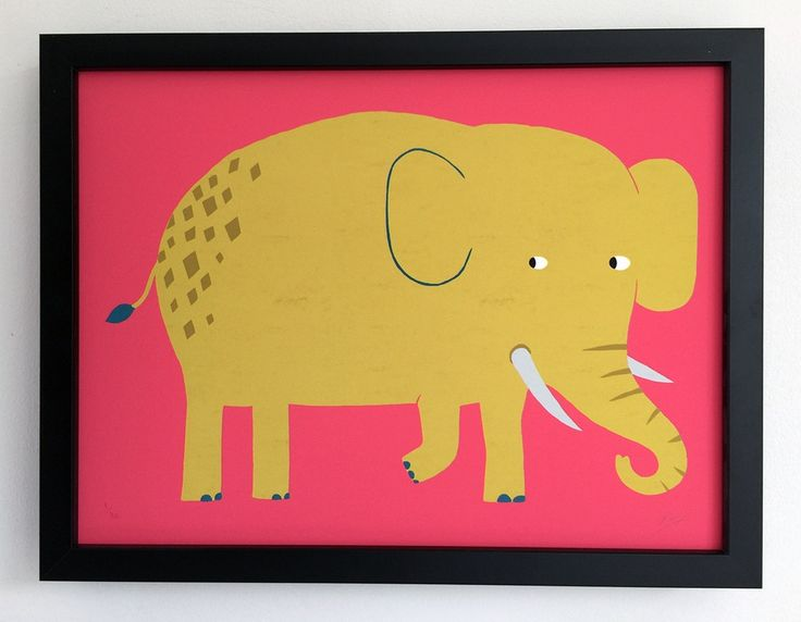 Kids Character - Elephant Art Print by See Creatures