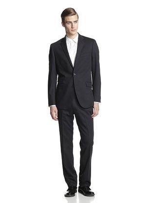 70% OFF Kenneth Cole New York Men's Slim Fit 2 Button Suit (Black)
