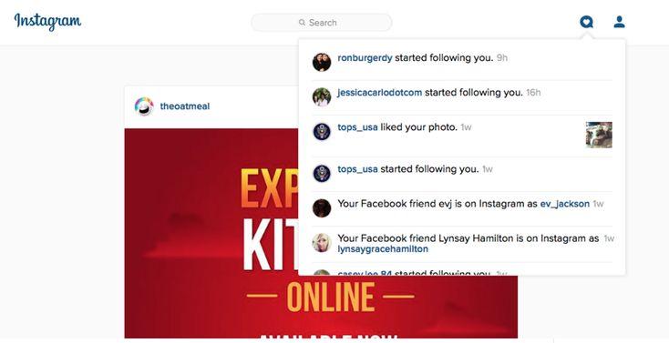 Ειδοποιήσεις Instagram και στην web έκδοση!