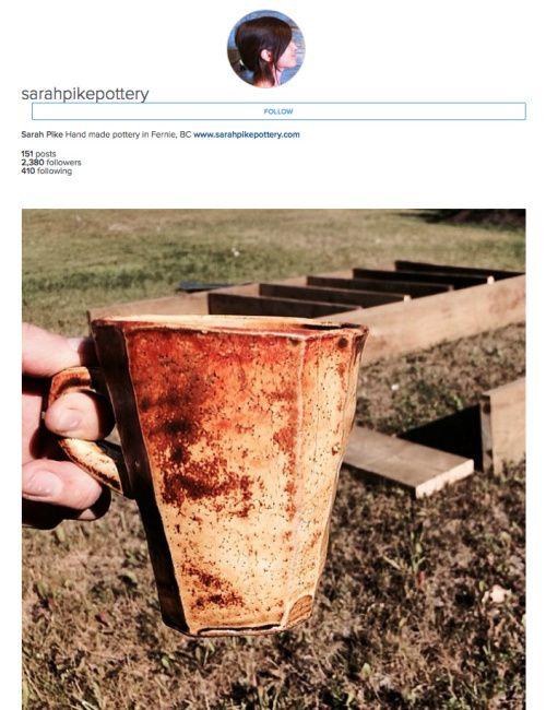 sarah pike pottery - fernie bc - on instagram