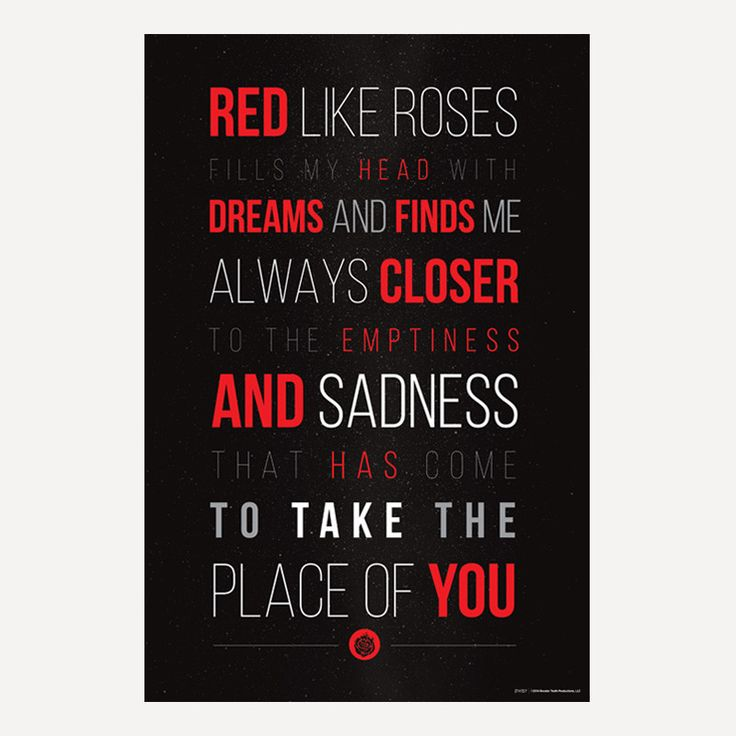 "RWBY Red Like Roses Poster (24"" x 36"") $10.95:"